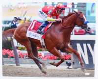 "Mike Smith Signed ""Justify"" 16x20 Photo (JSA COA) at PristineAuction.com"