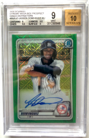 Jasson Dominguez 2020 Bowman Chrome Mega Box Prospect Green Refractors #BMAJD (BGS 9) at PristineAuction.com