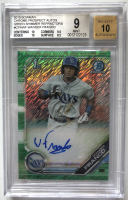 Wander Franco 2019 Bowman Chrome Prospects Autos Green Shimmer Refractors #CPAWF (BGS 9) at PristineAuction.com