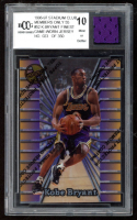 Kobe Bryant 1996-97 Stadium Club Members Only 55 #52 Finest RC with Game-Used Jersey Piece (BCCG 10) at PristineAuction.com