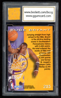 Kobe Bryant 1996-97 SkyBox Premium #203 with Game-Used Jersey Patch (BCCG 10) at PristineAuction.com