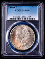 1884-CC Morgan Silver Dollar (PCGS MS66+) (Toned) at PristineAuction.com