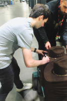 """Chandler Riggs Signed """"The Walking Dead"""" Sheriff Hat Inscribed """"Carl"""" (Radtke COA) at PristineAuction.com"""