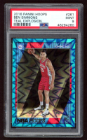 Ben Simmons 2016-17 Hoops Teal Explosions #261 RC (PSA 9) at PristineAuction.com