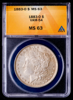 1883-O Morgan Silver Dollar, VAM-54 (ANACS MS63) at PristineAuction.com