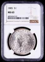 1885 Morgan Silver Dollar (NGC MS63) at PristineAuction.com