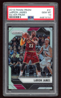 LeBron James 2016-17 Panini Prizm Prizms Silver #31 (PSA 10) at PristineAuction.com