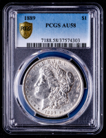 1889 Morgan Silver Dollar (PCGS AU58) at PristineAuction.com
