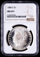 1880-S Morgan Silver Dollar (NGC MS67+) at PristineAuction.com