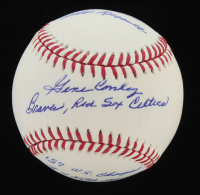 Gene Conley Signed OML Baseball with Multiple Inscriptions (Tracy Stallard Enterprises Hologram) at PristineAuction.com