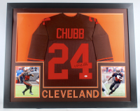 Nick Chubb Signed 35x43 Custom Framed Jersey (JSA COA) at PristineAuction.com