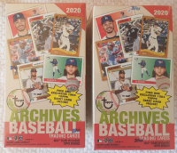 Lot of (2) 2020 Topps Archives Baseball Blaster Box with (7) Packs Plus 1 Exclusive 1964 Giant Card at PristineAuction.com