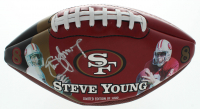 Steve Young Signed LE 49ers Hall of Fame Logo Football (Beckett COA) at PristineAuction.com