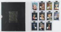 Complete Set of Marilyn Monroe Chromium Trading Cards With Personally Owned Bed Sheet Swatch Relic & Trading Card set in Album / Slipcase at PristineAuction.com