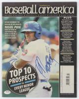 Yasiel Puig Signed 2013 Baseball America Magazine (PSA COA) at PristineAuction.com