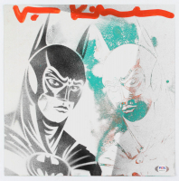 "Val Kilmer Signed ""Batman"" 12x12 Painting On Print (PSA COA) at PristineAuction.com"