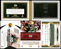 Lot of (4) Eddie Lacy 2013 Football Cards with Panini Playbook Rookie Jerseys Silver #208, Momentum #130 RC, Absolute Hogg Heaven #66, & Topps Chrome #131A RC at PristineAuction.com