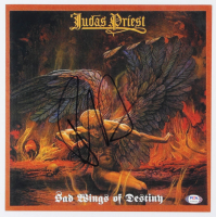 "Rob Halford Signed Judas Priest ""Sad Wings of Destiny"" 12x12 Album Cover Print (PSA COA) at PristineAuction.com"