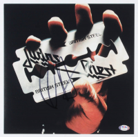 "Rob Halford Signed Judas Priest ""British Steel"" 12x12 Album Cover Print (PSA COA) at PristineAuction.com"