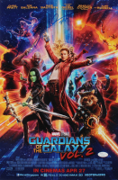 "Dave Bautista Signed 12x18 ""Guardians of the Galaxy Vol.2"" Movie Poster Inscribed ""Drax"" (JSA Hologram) at PristineAuction.com"