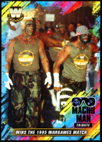 Macho Man Randy Savage 2018 Topps WWE Tribute 5x7 #29 Wins the 1995 WarGames Match at PristineAuction.com