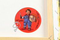 "Ed Gale Twice-Signed ""Chucky"" 18x18 Painting On Stretched Canvas (Official Ed Gale Hologram) at PristineAuction.com"