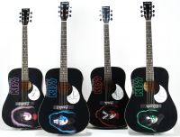 Lot of (4) KISS Acoustic Guitars Signed by Peter Criss, Gene Simmons, Paul Stanley & Ace Frehley (PSA Hologram) at PristineAuction.com
