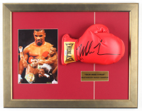 Mike Tyson Signed 18x23 Custom Framed Boxing Glove Display with Textured Art Print of Mike Tyson (PSA COA) at PristineAuction.com