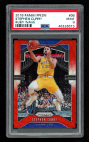 Stephen Curry 2019-20 Panini Prizm Prizms Ruby Wave #98 (PSA 9) at PristineAuction.com