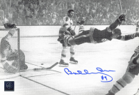 """Bobby Orr Signed Bruins """"The Flying Goal"""" 7.5x11 Photo (Orr COA) at PristineAuction.com"""