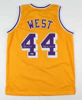 "Jerry West Signed Jersey Inscribed ""NBA 50 Greatest"" (Beckett COA) at PristineAuction.com"