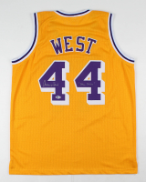 "Jerry West Signed Jersey Inscribed ""Mr. Clutch"" (Beckett COA) at PristineAuction.com"