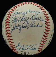 Dodgers ONL Baseball Multi-Signed by (14) with Andy Pafko, Johnny Podres, Eddie Miksis, Ralph Branca, Billy Loes, Clem Labine & (8) others (JSA ALOA) at PristineAuction.com