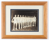 1948-49 Minneapolis Lakers 13.5x16.5 Custom Framed Photo Display Team-Signed by (13) with John Kundla, George Mikan, Johnny Jorgensen, Slater Martin (JSA ALOA) at PristineAuction.com