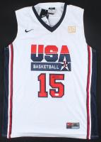 Magic Johnson Signed Team USA Jersey (JSA COA) at PristineAuction.com