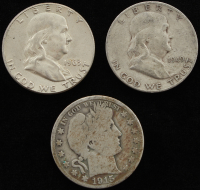Lot of (3) Half Dollar Silver Coins at PristineAuction.com