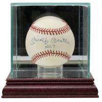 "Mickey Mantle Signed OAL Baseball Inscribed ""No. 7"" with Display Case (JSA LOA) at PristineAuction.com"