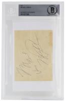 Michael Jordan Signed Cut (BAS Encapsulated) at PristineAuction.com