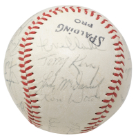 1970 Yankees OL Baseball Team-Signed by (21) with Thurman Munson, Curt Blefary, Roy White, Mel Stottlemyre, Gene Michael (PSA LOA) at PristineAuction.com