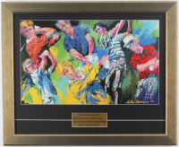 """Leroy Neiman """"Golf's Greatest 1981"""" 18.5x22.5 Custom Framed Print Display with Arnold Palmer, Jack Nicklaus, Seve Ballesteros & Tom Watson at PristineAuction.com"""