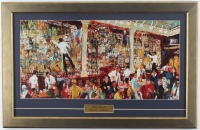 "LeRoy Neiman ""Irish Bar Scene"" 17x26 Custom Framed Print Display at PristineAuction.com"
