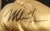 Mike Tyson Signed 14.5x29 Custom Framed Boxing Glove Photo Display (PSA COA) at PristineAuction.com