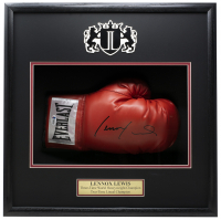 Lennox Lewis Signed 18x19x4 Custom Framed Boxing Glove Shadowbox Display (Beckett COA) at PristineAuction.com