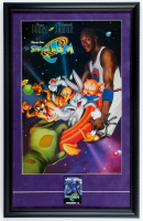 """Space Jam"" 16x25 Custom Framed Movie Poster Display with Original Pre Movie Release Lapel Pin at PristineAuction.com"