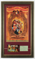 """Disneyland """"Country Bear Jamboree"""" 15.5x26.5 Custom Framed Poster Display with """"E"""" Show Ticket & Vintage Postcard at PristineAuction.com"""