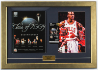 Michael Jordan Bulls 18x25 Custom Framed Print Display with 2009 Enshrinement Ceremony Program & Ticket at PristineAuction.com