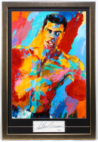 "LeRoy Neiman Signed ""Muhammad Ali"" 24.5x34.5 Custom Framed Cut Display with Vintage Print (PSA COA) at PristineAuction.com"
