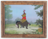 "Walt Disney's LE ""Winnie The Pooh & The Blustery Day"" 13.5x16.5 Custom Framed Animation Serigraph Display at PristineAuction.com"