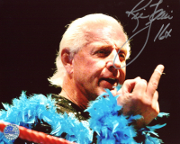 """Ric Flair Signed 8x10 Photo Inscribed """"16x"""" (Pro Player Hologram) at PristineAuction.com"""