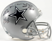 "Troy Aikman, Emmitt Smith & Michael ""Playmaker"" Irvin Signed Cowboys Full-Size Helmet With (3) Super Bowl Inscriptions (Prova, Aikman, Irvin & Smith Holograms) at PristineAuction.com"